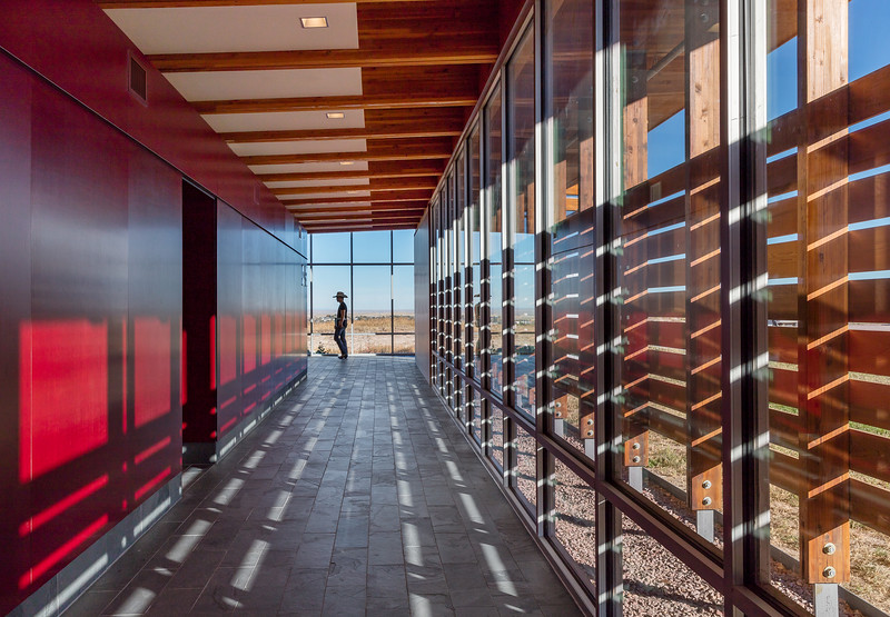 BVH Architecture of Lincoln and Omaha, received an Interior Design Excellence Award (IDEA) for the Chadron State College Rangeland Lab from the Great Plains Chapter of the International Interior Design Association in Des Moines April 21, 2017. (Photo courtesy Paul Crosby)