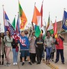 The CSC International Club in the Chadron State College Homecoming parade Saturday, Sept. 23, 2017. (Photo by Tena L. Cook/Chadron State College)