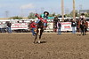 Chadron State College rodeo team member Rowdy Moon rides a bareback at the CSC rodeo in September 2017. (Photo by Con Marshall/Chadron State College)