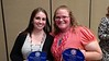 "Two 2008 Chadron State College graduates in social work received the Western South Dakota Child Protection Council Award for ""Strengthening Children and Families"" April 18, 2017. Rachel Shepherd, left, is the clinical supervisor at Lutheran Social Services in Rapid City, South Dakota. Rachel Walton, right, is an assistant team coordinator at Black Hills Children's Home. (Courtesy photo)"