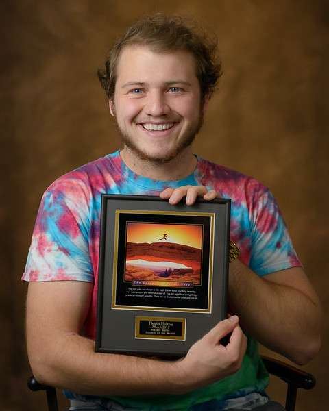 Devin Fulton of Glenrock, Wyoming, was named the Project Strive/TRiO Student of the Month for March 2017. (Photo by Daniel Binkard/Chadron State College)