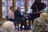 Dr. Jim Margetts, dean of the Chadron State College School of Liberal Arts, performs at the Piano Studio Recital Thursday, April 27, 2017, in the Sandoz Center Chicoine Atrium. (Photo by Tena L. Cook/Chadron State College)