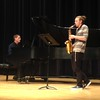 Bobby Pace on piano and Drew Kasch on saxophone during the University of Nebraska-Kearney New Music Festival, March 10, 2017. (Courtesy photo)