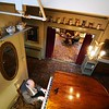 BEN GARVER — THE BERKSHIRE EAGLE<br /> Composer Philip Calder, a Berkshire native who lives in California, plays sketches from a symphony in progress for his friend Ted Davis at the Red Lion Inn in Stockbridge, Thursday, November 7, 2019.  Calder visits the Berkshires every year to visit friends and family.