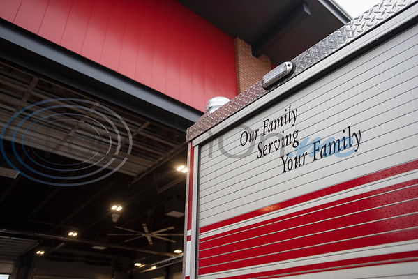 """""""Our family serving your family"""" is written on the side of a fire engine at the relocated Tyler Fire Station No. 4, pictured during it's grand opening on Monday, Feb. 3, 2020 at 7445 Cherryhill Drive.  (Sarah A. Miller/Tyler Morning Telegraph)"""