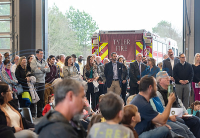 People attend the grand opening of the relocated Tyler Fire Station No. 4 on Monday, Feb. 3, 2020 at 7445 Cherryhill Drive.  (Sarah A. Miller/Tyler Morning Telegraph)