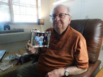 Ken Peace, a 94-year-old World War II veteran living in Wadsworth, recounts his experience in The Battle of the Bulge and the feeling among his fellow troops following the invasion of Normandy, also known as D-Day. JONATHAN DELOZIER / GAZETTE