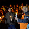 KRISTOPHER RADDER - BRATTLEBORO REFORMER<br /> Jeremy Miller, pastor at Center Church in Winchester, N.H., leads the vigil in a prayer as they honor the life of Keyton Marrotte, 10, of Winchester, N.H., who was killed when he was hit by a car while on Saturday, Dec. 16, 2017.