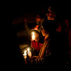 KRISTOPHER RADDER - BRATTLEBORO REFORMER<br /> Candlelight fills the night sky, as a  couple hundred people filled the bottom of the hill on Monday, Dec. 18, 2017, where Keyton Marrotte, 10, of Winchester, N.H., was killed when he was hit by a car while sledding on Saturday, Dec. 16, 2017.