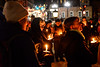 KRISTOPHER RADDER - BRATTLEBORO REFORMER<br /> People hold a candlelight vigil at Plaza Park, in Brattleboro, Vt., to mark the fourth anniversary of the Sandy Hook Elementary shooting, in Sandy Hook, Conn., on Wednesday, Dec. 14, 2016.