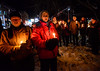 KRISTOPHER RADDER - BRATTLEBORO REFORMER<br /> Frances Herbert holds a candle during a candlelight vigil at Plaza Park, in Brattleboro, Vt., to mark the fourth anniversary of the Sandy Hook Elementary shooting, in Sandy Hook, Conn., on Wednesday, Dec. 14, 2016.