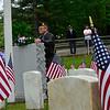 KRISTOPHER RADDER - BRATTLEBORO REFORMER<br /> John Hagen, Brattleboro Post 5 Commander, places a wreath at Locust Ridge Cemetery during a Memorial Day service on Monday, May 28, 2018.