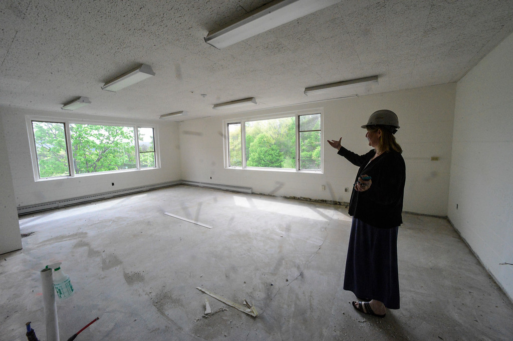 . Crews have been working on the renovations inside Vermont Hall as Winston Prouty Center prepares to move in, in July. Kristopher Radder / Reformer Staff