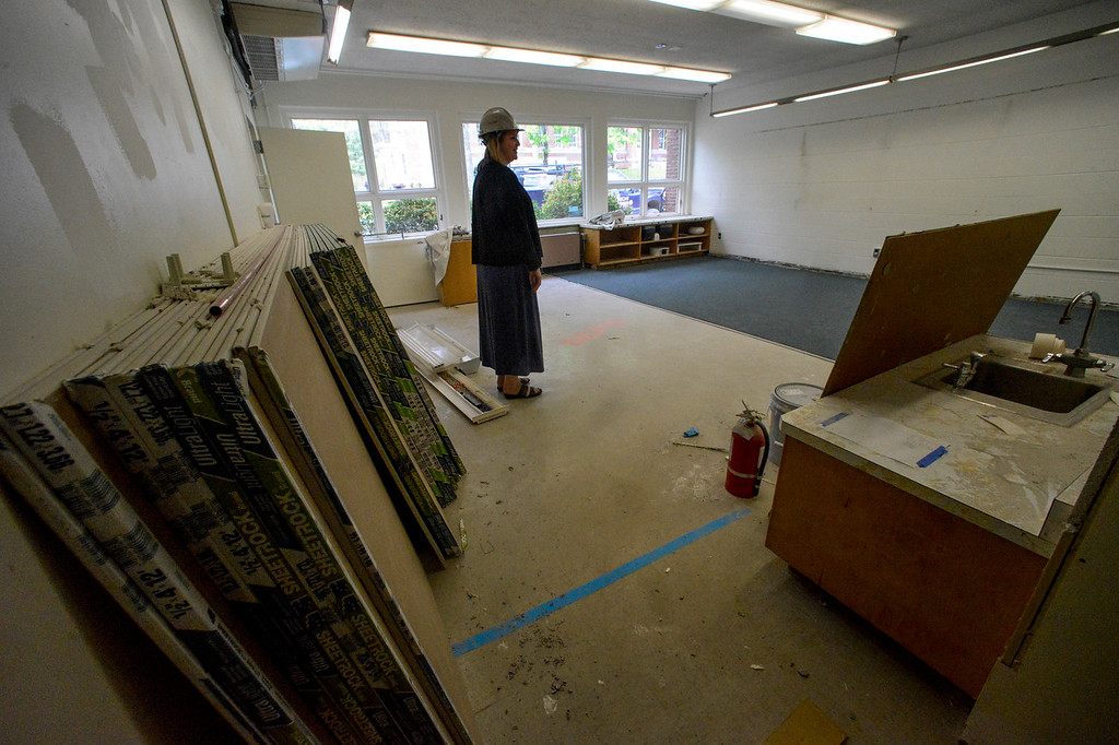 . Chloe Learey, executive director of the Winston Prouty Center, shows off one of the new classrooms of the school that is located inside Vermont Hall.  Kristopher Radder / Reformer Staff