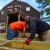 KRISTOPHER RADDER - BRATTLEBORO REFORMER<br /> Team members for various Home Depot stores help work on various renovation projects at the Warrior Connection facilities, in East Dummerston, on Friday, May 11, 2018.