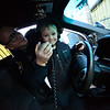 KRISTOPHER RADDER — BRATTLEBORO REFORMER<br /> Jax Labby, 5, of Hinsdale, uses the loudspeaker on a patrol car with help from Winchester Police Officer Bryan Jalava on Tuesday, Oct. 20, 2018.