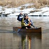 BEN GARVER - THE BERKSHIRE EAGLE<br /> Ron Estes brings his canoe into the Decker Canoe Launch on the Housatonic River in Lenox, Thursday, February 23, 2017.