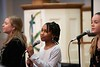 """Veronica Stevens, Mariam Diallo and Annabelle Thies, (Samirah Evans & her Vocal Trio) sing """"I Wish I Knew How it Would Feel to be Free""""; KELLY FLETCHER, REFORMER CORRESPONDENT"""