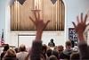 Support and appluase follow Kiah Morris's talk during Brattleboro's MLK celebration at Centre Congregational Church; KELLY FLETCHER, REFORMER CORRESPONDENT