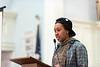 Z Muhammad, of Youth4Change reads a self-written poem; KELLY FLETCHER, REFORMER CORRESPONDENT