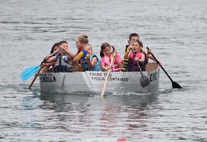 Watkins Glen Cardboard Boat Regatta 6-14-14