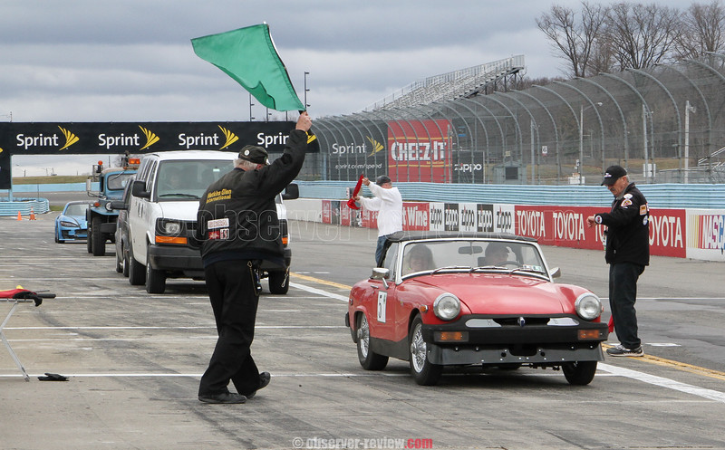 Green Grand Prix at Watkins Glen International race track, Friday, April 17.