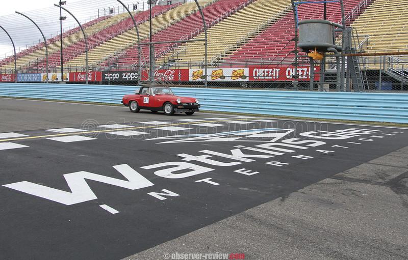 Green Grand Prix at Watkins Glen International race track, Friday, April 17.