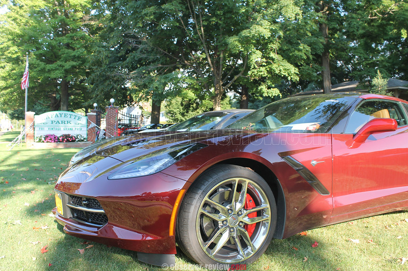 Several of the marque Corvettes were parked in LaFayette Park for insection throughout the festival.