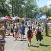 Crowds visited Clute Park following the parade Saturday to explore a variety of food and craft vendors, along with several carnival rides and midway games.