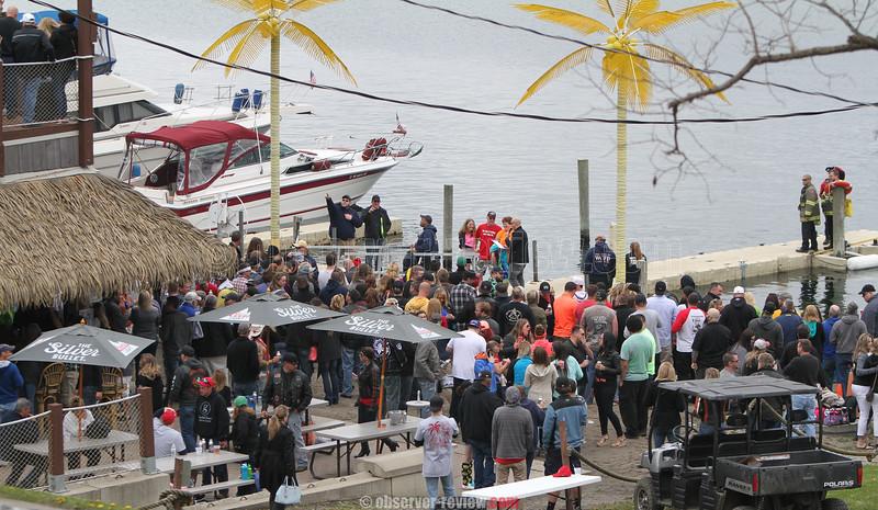 Anchor Inn and Marina Tiki Bar Polar Bear Plunge 2016.