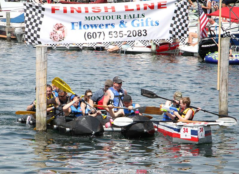 Watkins Glen Cardboard Boat Regatta 2016.