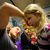 KRISTOPHER RADDER — BRATTLEBORO REFORMER<br /> Nina Violent Kelly, 5, of West Dummerston, gets her face painted by Havah Blais, a worker at KidsPLAYce, in Brattleboro, during a New Year's Eve as part of Last Night Brattleboro on Monday, Dec. 31, 2018.