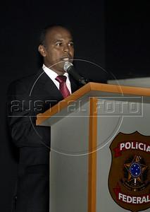 Valmir Lemos de Oliveira speaks during the inauguration as Rio de Janeiro's Policia Federal (Federal Police) superintendent, Rio de Janeiro, Brazil, May 5, 2011. (Austral Foto/Renzo Gostoli)