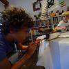 KRISTOPHER RADDER — BRATTLEBORO REFORMER<br /> Children participate in a week-long Summer Art Camp at the River Gallery School of Art on Thursday, Aug. 8, 2019.