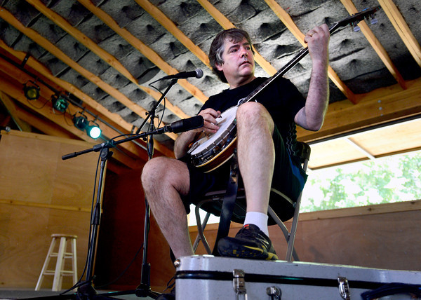 "Award winning banjo player Bela Fleck performs for the crowd on Thursday, July 26, at the Rocky Grass Academy in Lyons. For more photos and video of the academy go to  <a href=""http://www.dailycamera.com"">http://www.dailycamera.com</a><br /> Jeremy Papasso/ Camera"