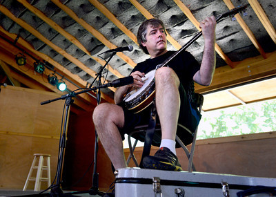 Award winning banjo player Bela Fleck performs for the crowd on Thursday, July 26, at the Rocky Grass Academy in Lyons. For more photos and video of the academy go to www.dailycamera.com Jeremy Papasso/ Camera