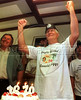Britain's best known fugitive Ronnie Biggs celebrates during his 70th birthday party in this file photo taken August 8, 1999 in Rio de Janeiro, Brazil. (Douglas Engle/Australfoto)