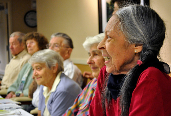 Senior members gather during a Rosh Hashanah service at the Boulder Meridian in Boulder, Colorado Thursday September 13, 2012. DAILY CAMERA/ JESSICA CUNEO