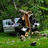 KRISTOPHER RADDER - BRATTLEBORO REFORMER<br /> Members of the Brattleboro Fire Department, Chesterfield Fire Department, Spofford Fire Department, and Chesterfield Police Department responded to a single vehicle crash on Route 9 in Chesterfield, N.H., around 5 p.m. on Tuesday, Aug. 29, 2017. <br /> <br /> Chesterfield Police Officer Derek Jackson said the driver was traveling west on Route 9 before her vehicle left the road and crashed into a tree near Sto-Rite, a storage facility. <br /> <br /> The driver was transported to Brattleboro Memorial Hospital for unknown injuries. Cause of the crash is under investigation.<br />