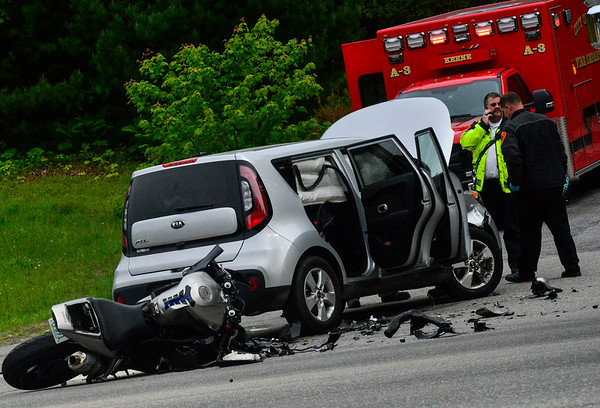Route 9 crash in Keene - 060419 - Reformer, Banner and Journal