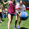 "Ryan Elementary Kickball001.JPG Fifth grade student Krista Visscher gets tagged out on her way to first base by 5th grade teacher Kate Scholl during a kickball game on Thursday, May 24, at Ryan Elementary School in Lafayette. For more photos and video of the 5th grade vs. the teachers kickball game go to  <a href=""http://www.dailycamera.com"">http://www.dailycamera.com</a><br /> Jeremy Papasso/ Boulder Daily Camera"