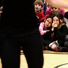 "From left to right  Molly Herz and Abby Weismann, watch a scene of  ""The Tempest"" at Douglass Elementary as part of the Colorado Shakespeare Festival's school anti-bullying tour that focuses on themes of anti-violence and forgiveness on Thursday February 28, 2013. For more photos go to  <a href=""http://www.dailycamera.com"">http://www.dailycamera.com</a><br /> Photo by Paul Aiken"