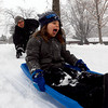 "Jim Risner gives his son, Kingston, 5, a push at North Boulder Park on Sunday. <br /> For more photos and a video of the current storm, go to  <a href=""http://www.dailycamera.com"">http://www.dailycamera.com</a>. <br />  Cliff Grassmick  / February 24, 2013"