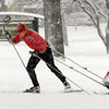 "Alan Enos cross country skis with his son, Tad, 5-months, at North Boulder Park on Sunday.<br />  For more photos and a video of the current storm, go to  <a href=""http://www.dailycamera.com"">http://www.dailycamera.com</a>. <br />  Cliff Grassmick  / February 24, 2013"
