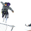 "Evan Cunningham, 20, of Boulder, left, catches some air from a jump while his friend Boomer Beatty, 19, of Boulder, films him on Friday, Feb. 3, at New Vista High School in Boulder. For a video of the rail jam go to  <a href=""http://www.dailycamera.com"">http://www.dailycamera.com</a><br /> Jeremy Papasso/ Camera"