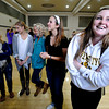 "From left to right Zoe Calvin, Kathryn Caminiti, Cicily Carter, Kailee Caranta and Allie Canti wait nervously to get the sorority assignments  at the Glenn Miller Ballroom on the CU Boulder Campus Wednesdy evening on Sorority Bid Day. FOR MORE PHOTOS AND A VIDEO OF BID DAY GO TO  <a href=""http://WWW.DAILYCAMERA.COM"">http://WWW.DAILYCAMERA.COM</a><br /> Photo by Paul Aiken / The Camera / September 7, 2011"
