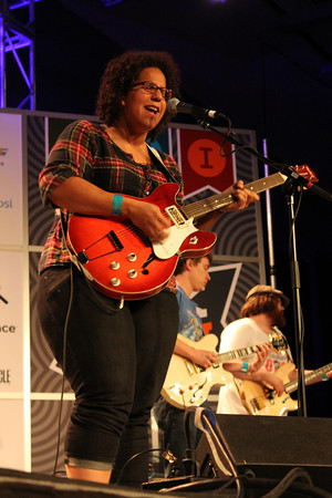 Alabama Shakes perform at the Radio Day Stage during South By Southwest Music Festival.<br /> March 13-18, 2012, Austin. <br /> Ashley Dean / Colorado Daily