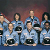 Crew of the space shuttle Challeger<br /> STS-51-L crew: (front row) Michael J. Smith, Dick Scobee, Ronald McNair; (back row) Ellison Onizuka, Christa McAuliffe, Gregory Jarvis, Judith Resnik
