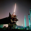 FILE - This Thursday morning, May 15, 1997 file picture shows the lanuch of the space shuttle Atlantis in an eight-minute time exposure as viewed from the Rocket Garden at the Kennedy Space Center Visitor Center in Cape Canaveral, Fla. A somewhat generational battle over NASA's future is escalating even as NASA is about to close the book on the space shuttle era. (AP Photo/Scott Audette)