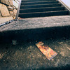 "A brochure lies on a step amidst ashes and dirt at the St. Malo Retreat near Allenspark on Tuesday. Crews are cleaning up and shoring up the structure before engeneers determine how much of the structure can be saved. For more photos go to  <a href=""http://www.dailycamera.com"">http://www.dailycamera.com</a><br /> Photo by Walt Hester 